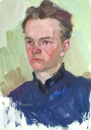 Sketch portrait or figure - oil painting