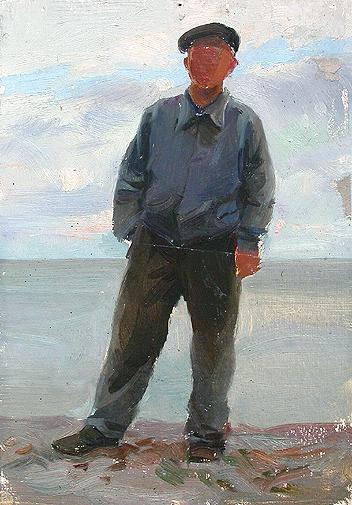 Sketch for a Painting portrait or figure - oil painting