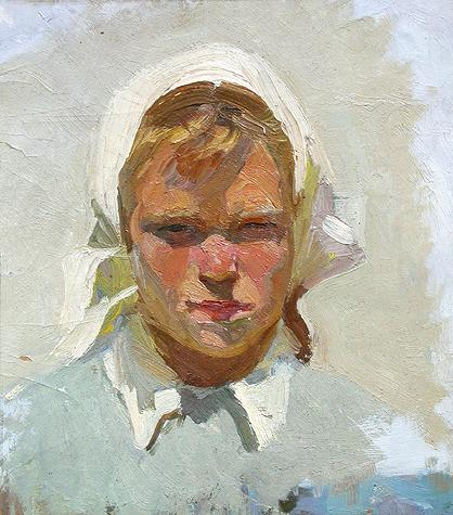 Girl's Head portrait or figure - oil painting