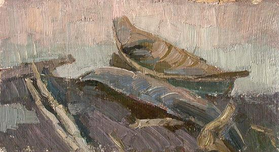 Boats other - oil painting