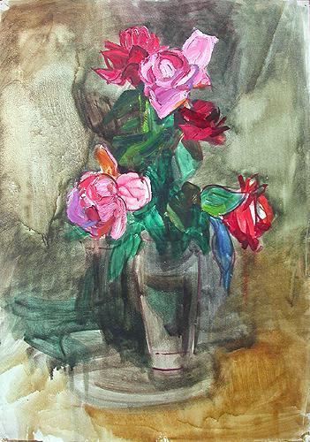 Цветы цветы - масло, пастель живопись