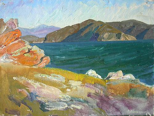 Baikal Motive seascape - oil painting