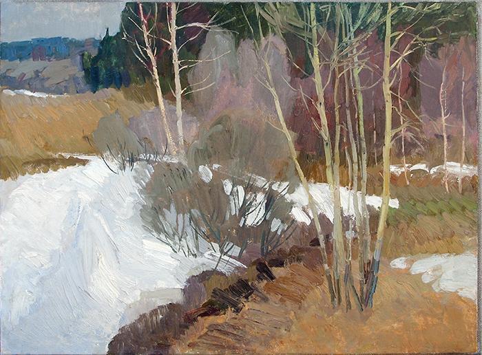 Spring Motive spring landscape - oil painting