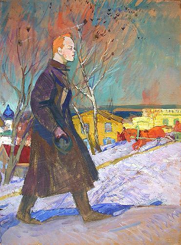 Lenin social realism - oil painting