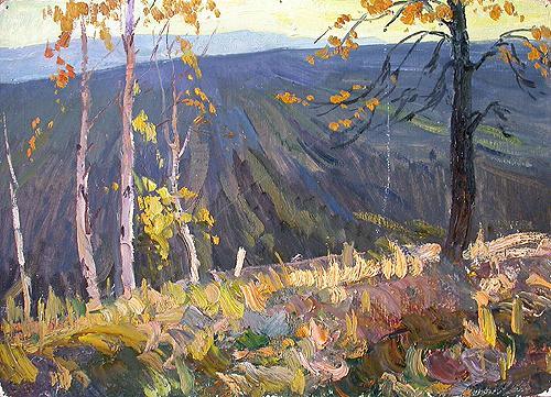 Autumn Glade autumn landscape - oil painting