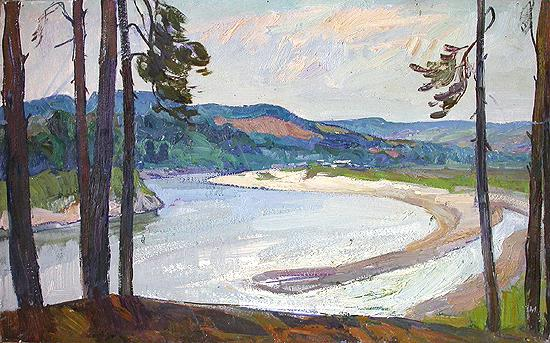 Сура пейзаж лето река